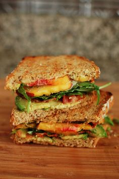 Peach, Bacon, Avocado Sandwich
