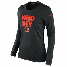 Nike Cincinnati Bengals Ladies Steel Curtain Local Long Sleeve T-Shirt - Black