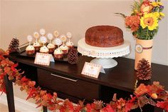 Harvest desserts at a Thanksgiving party!  See more party planning ideas at CatchMyParty.com