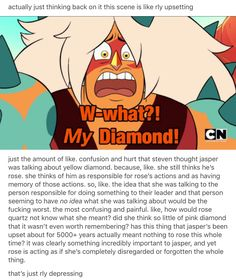 I still hate Jasper in the good way  (appreciating her as an antagonist who represents everything Steven isn't) but those must still be horrible to have as your last coherent thoughts.