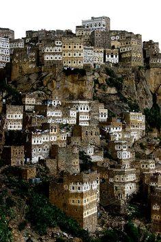 Al Hajjara -  Yemen by Eric Lafforgue, via Flickr