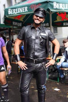 Marco, Leatherman from Italy at #FolsomEurope Berlin.  #LeatherIT