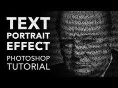Video Tutorial: Text Portrait Effect in Adobe Photoshop Photoshop Design, Photoshop Tutorial, Adobe Photoshop, Photoshop Video, Advanced Photoshop, Photoshop Actions, Lightroom, Photoshop Elements, Photoshop Website