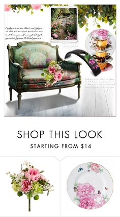 """""""Make your Home Bloom """" by dragananovcic ❤ liked on Polyvore featuring interior, interiors, interior design, home, home decor, interior decorating, Royal Albert and NOVICA"""