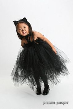 Halloween Tutu Dress, Black Cat Tutu Dress, Halloween Costumes 2T months to 4T. $58.50, via Etsy.