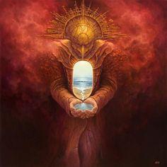 God Mind Paradise Heaven Hands Water Golden Gold