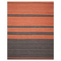 Safavieh Nico Area Rug - Dark Grey / Orange (9' X 12')