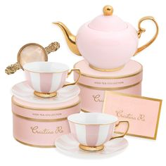 Blush Tea for 2 Gift Set, You are able to enjoy break fast or various time intervals applying tea cups. Tea cups also have ornamental features. When you consider the tea glass types, you might find this clearly. Cappuccino Tassen, Vase Deco, Tee Set, Tea Sets Vintage, Vintage Teacups, Vintage Diy, Vintage Stuff, Vintage Gifts, Wine Gift Baskets