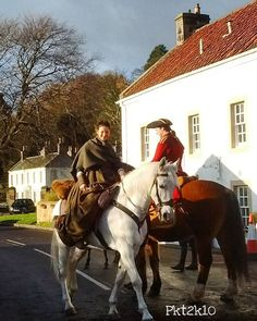 pkt2k10It's been blowing a hoolie today so here's another shot from Wednesday when I saw Outlander being filmed at Culross.