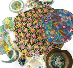 Broken Chintz China Pieces Jewelry Making by OurModernHistory