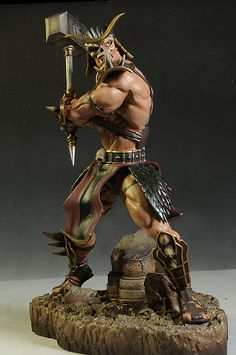 Mortal Kombat Shao Kahn statue by Pop Culture Shock Statues, Comic Character, Game Character, Mortal Kombat Figures, Pop Culture Shock, Mortal Combat, Custom Action Figures, Figure Model, Anime Comics