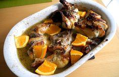 Pollo en salsa de cítricos