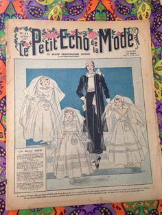 """Revue """"le petit écho de la mode """" mars 1934 de la boutique LesPierreVintage sur Etsy"""