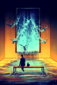 """3rdART: Rolando Cyril """"AquaSixio"""" (1984) illustration, fantasy, digital paint, more>>http://3rd-art.blogspot.com.es/2014/08/rolando-cyril-aquasixio-1984.html"""