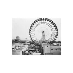 Ferris Wheel at Chicago Exposition Photographic Wall Art Print ($35) ❤ liked on Polyvore featuring home, home decor, wall art, photography posters, chicago poster, chicago wall art and photography wall art