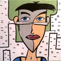 Dude on the street painted 2014 Manfred Schaefer Original Paintings, Original Art, Pop Art, The Originals, Acrylics, Handmade Gifts, Artwork, Artist, Fictional Characters