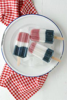 Patriotic Smoothie Popsicles - BoulderLocavore.com