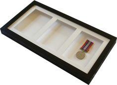3df34607baa3 Triple 6x4 black display frame. Deep shadow box display frame for medals etc