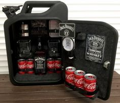Jack Daniels Jerry Can Mini Bar (BLUE) Grey Goose Vodka Whiskey Camping Gift in Collectables, Breweriana, Novelties   eBay