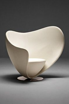 """""""Mon Coeur has been designed in a shape that resembles a loving heart. This minimal asymmetrical ergonomic profile provides a private and intimate space within its shell like form; at the same time being open and inviting"""" - HEART SHAPED BOX - (""""Mon Coeur"""" designed by Peter Harvey for La Cividina)"""