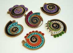 Brooches for the Spring show... by woolly  fabulous, via Flickr