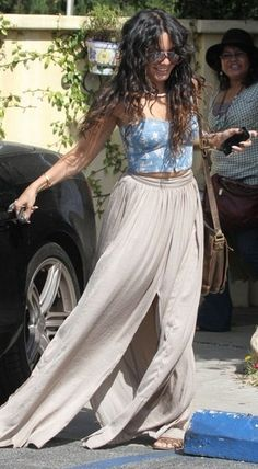 Ideas For Style Icons Outfits Vanessa Hudgens Estilo Vanessa Hudgens, Vanessa Hudgens Style, Hippie Style, Gypsy Style, Hippie Chic, Bohemian Mode, Bohemian Style, Boho Chic, Trendy Fashion