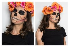 Make tutorial: learn to make an authentic Mexican skull! Quick Halloween Costumes, Halloween Make Up, Halloween Decorations, Halloween Party, Halloween Makeup Sugar Skull, Sugar Skull Makeup, Pirate Hair, Fantasias Halloween, Halloween Disfraces