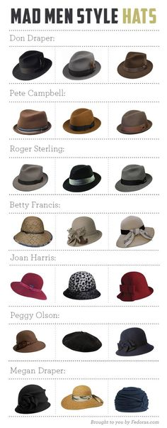 Mad Men style hats