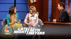 Sarah Jessica Parker and Anna Wintour Interview - SJP refers to Anna as Ms. Wintour like I do too….omg…Hallelujah ….and seriously, Ms. Wintour is so so so friendly and smiley, I love it...