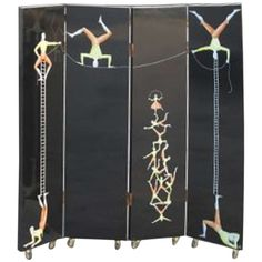 Piero Fornasetti Acrobats Screen circa 1993 Edition of 25   From a unique collection of antique and modern screens at http://www.1stdibs.com/furniture/more-furniture-collectibles/screens/
