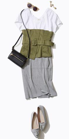 夏旅スタイル #02 白T&ニットスカートで古都散策 | Style | LUMINE MAGAZINE