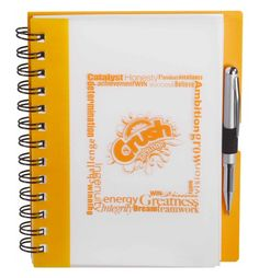 Essential Color Notebook, Custom Logo Imprint - white cover with your choice of five different colored accents to make your logo stand-out. Wholesale. #femmepromo #promojournals #customjournals #customnotebooks #cutenotebooks