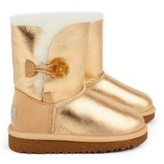 Bisgaard Girls Leather Lined Boots in Gold at Kidsen.co.uk | Kids ...