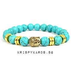 Check out Turquoise Stone Beads Bracelet for $10.00. Get it on Shopee now! https://shopee.sg/krispykards.sg/42436188 #ShopeeSG