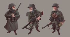 NAZI soldiers character design for a videogame on Behance