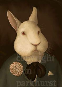 Victorien Bunny Rabbit Portrait imprimé signé
