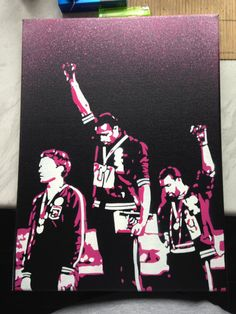 Black Power Olympics paintingblack by AbstractGraffitiShop on Etsy