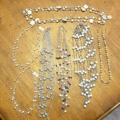 Faux Pearl Necklaces Pearls, pearls and more pearls! 7 lovely necklaces....one for each day of the week! Jewelry Necklaces