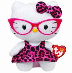 6a68d85f91 Amazon.com  Ty Beanie Baby Hello Kitty Plush - pink glasses  amp  pink