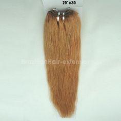 1 Bundle / Lot Top Quality Dyed #30 Color Straight Brazilian 100% Human Hair Extensions 100g/pcs No Shedding No Tangles No Fade