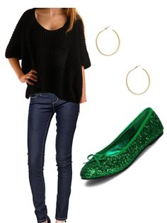 Cute St. Patrick's day outfit! All I need are the shoes (which you can find online at Target.com)!