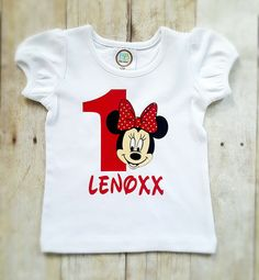 Minnie mouse girls birthday shirt by GrantedWishDesignCo on Etsy