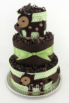 for the woodland baby shower- a diaper cake