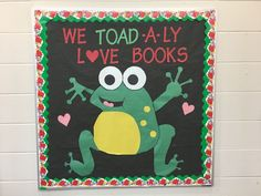 Valentines Day Elementary Bulletin Boards, Valentines Day Bulletin Board, Reading Bulletin Boards, Winter Bulletin Boards, Bulletin Board Display, Elementary Library, Classroom Bulletin Boards, Classroom Door, Library Themes