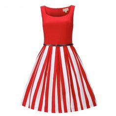 Shop Lindy Bop's range of striped dresses. From swing dress to rockabilly dresses to wiggle dresses. Make your vintage look truly iconic with a striped dress to suit each and every body type. 50 Style Dresses, Pin Up Dresses, Vintage Style Dresses, Unique Dresses, Vintage Outfits, Dress Vintage, Vintage Clothing, Casual Dresses, Funky Fashion