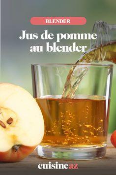 Le jus de pomme au blender est une boisson parfaite pour le petit déjeuner par exemple. #recette#cuisine#jus#pomme #fruit #blender #robot Blender, 20 Min, Cantaloupe, Robot, Juices, Cooking Recipes, Morning Breakfast, Drinks, Robots