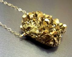 Druzy necklace amethyst drusy gold filled titanium by NatureLook, $76.00