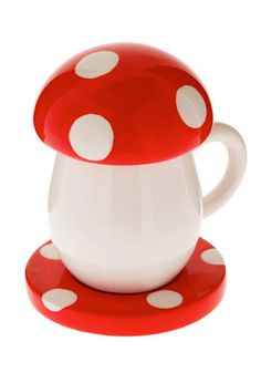 Shroom for Cream Mini Cup Set. Keep your creamer cute or your coffee hot in this mini ceramic cup.  #modcloth Colorful Vegetables, Hora Do Café, Tupfen, Mushroom Art, Cupping Set, Ceramic Cups, Cute Food, Mug Cup, Kids Meals