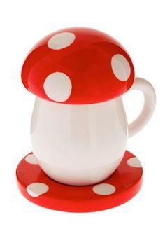 mushroom cup set