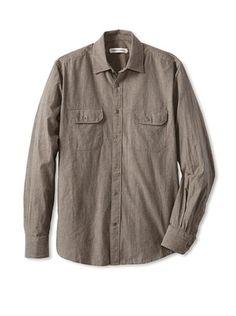 61% OFF James Campbell Men's Brussels Shirt (Moss)